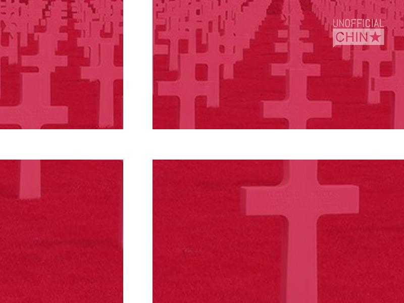 Grave Crossed Danish National Flag